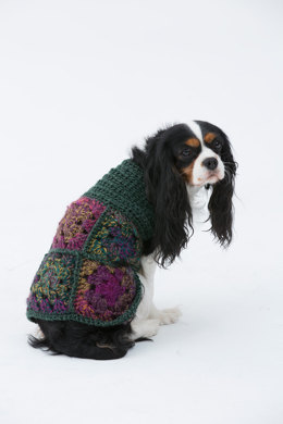 Hippie Dog Sweater in Lion Brand Unique - L32306