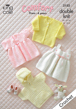 Jacket, Sweater, Cardigan and Dresses in King Cole Comfort DK - 3152