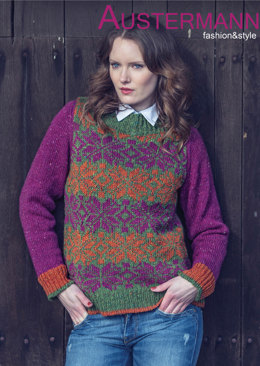 Ladies' Pullover in Austermann Irish Tweed - 132054