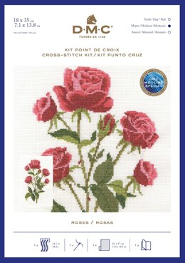 DMC Roses Cross Stitch Kit