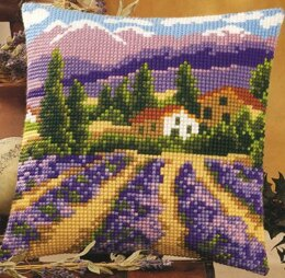 Vervaco Lavender Field Cushion Front Chunky Cross Stitch Kit - 40cm x 40cm
