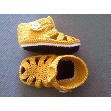 Cotton Thread Baby Sandals  / Sandaletti in cotone
