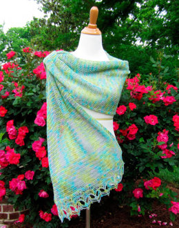Hand Paint Crocheted Robyn's Wrap in Classic Elite Yarns Silky Alpaca Lace
