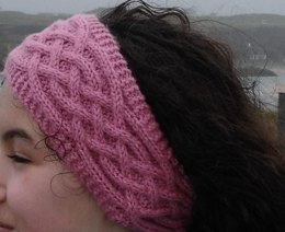 Cabled headband, boot toppers and mittens