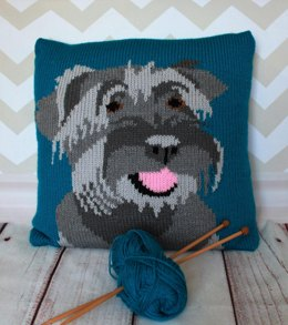 Miniature Schnauzer Pet Portrait Cushion Cover
