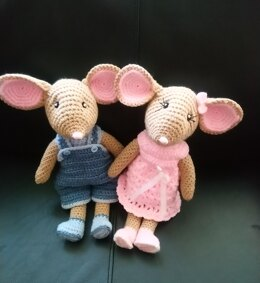 Marley and Molly Mouse Amigurumi