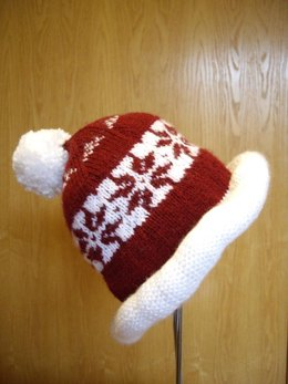 Adult Christmas themed Bobble Hat
