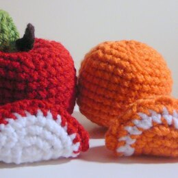 Amigurumi Apple and Orange