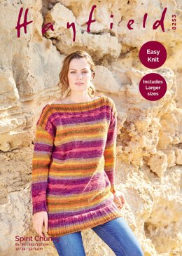 Tunic Sweater in Hayfield Spirit Chunky - 8253 - Downloadable PDF
