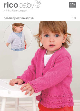 Cardigan in Rico Baby Cotton Soft DK - 174
