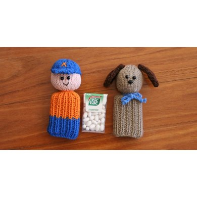 2 Pack - Tic Tac Toys/wine bottle toppers - Halloween and People and Animals