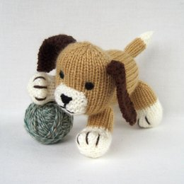 Muffin the puppy - knitted dog