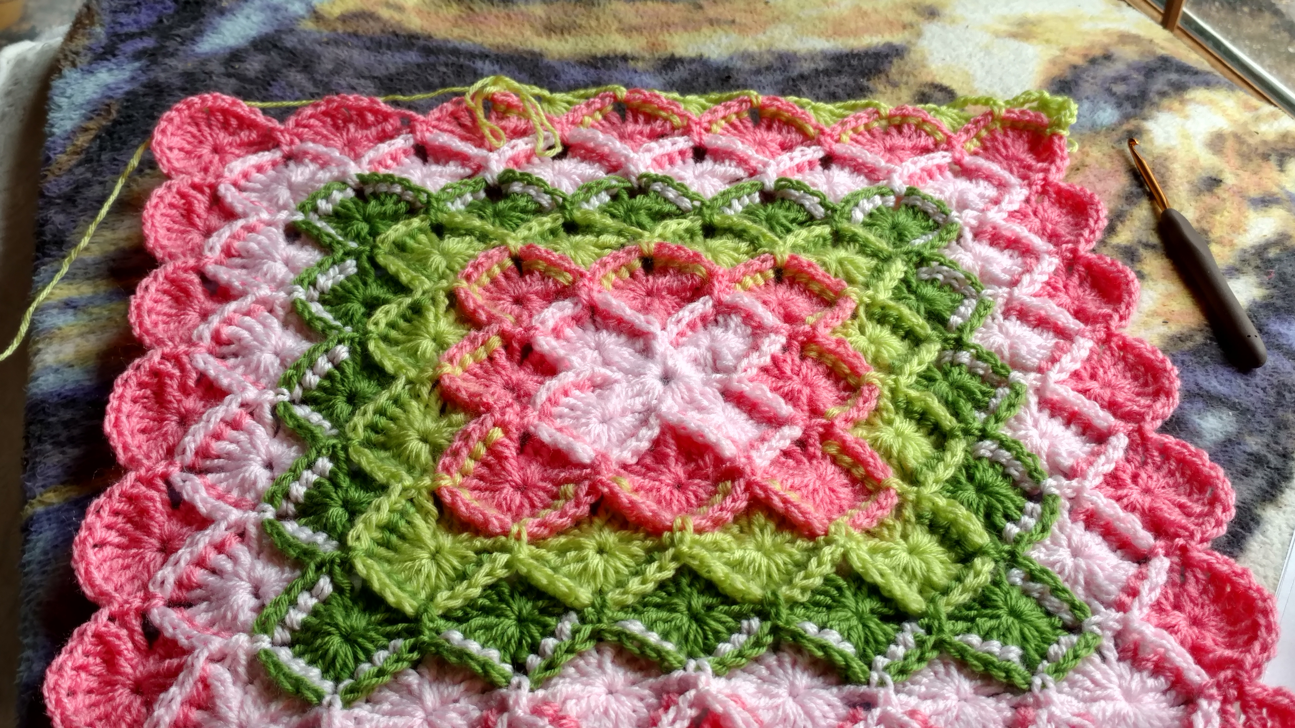 Spring Bavarian Toddler Or Baby Blanket Crochet Project By Tammy C