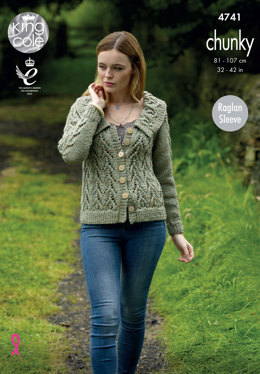 Sweater & Jacket in King Cole Chunky Tweed - 4741 - Leaflet