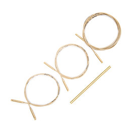 Addi-click Set of 3 Cords and 1 Connector - Golden
