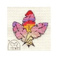 Mouseloft Stitchlets - Colourful Feathers Cross Stitch Kit