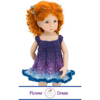 Flower Dress For 13 Inch Little Darling Dolls Doll Clothes Knitting