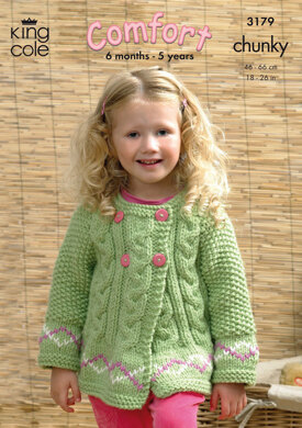 Sweater and Jackets in King Cole Comfort Chunky - 3179