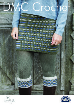 Tweedie Skirt & Boot Cuffs in DMC Woolly 5 - 15413L/2 - Leaflet