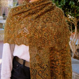 Mrs. Montague's Wide Bordered Lace Wrap