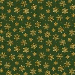 Craft Cotton Company Traditional Holly Metallic Christmas - 260402