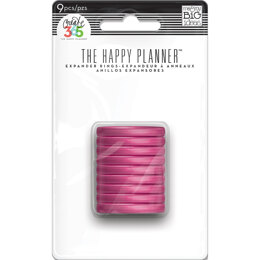 "Me & My Big Ideas Happy Planner Discs 1.25"" 9/Pkg - Clear Hot Pink"