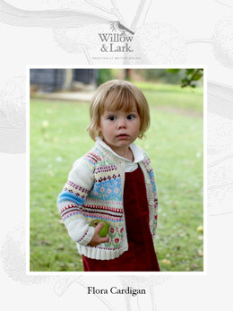 Flora Cardigan in Willow & Lark Nest - Downloadable PDF
