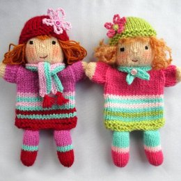 Ruby and Rose - Hand Puppet Dolls