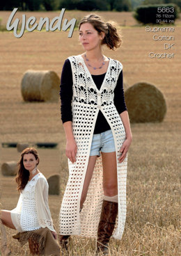 Crochet Waistcoats in Wendy Cotton DK - 5663