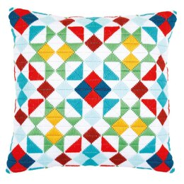 Vervaco Rhombuses Long Stitch Cushion Kit - 40 x 40cm