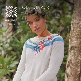 Sol Jumper - Jumper Knitting Pattern For Women in MillaMia Naturally Soft Cotton by MillaMia