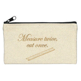 Fabric Fanatics Zipper Bag - Measure Twice