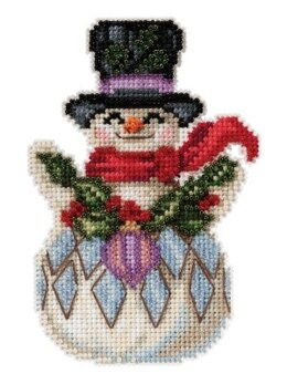 Mill HillJim Shore Snowman with HollyCross StitchKit - 3.25in x 5in
