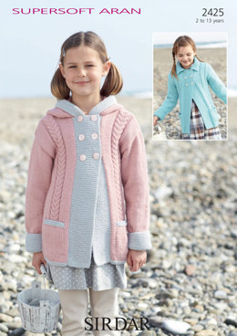 Hooded and Collared Coats in Sirdar Supersoft Aran - 2425
