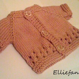 Cutie Pie Preemie Hat and Cardigan set