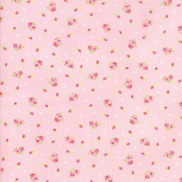 Moda Fabrics First Romance Pale Sweet Pea Floral Cut to Length - Corsage Pink