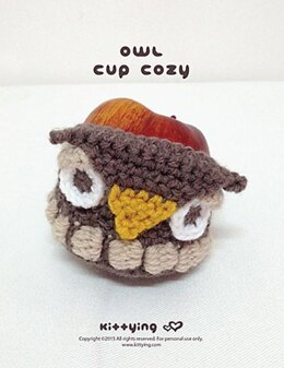 Owl Apple Cozy and Owl Cup Cozy