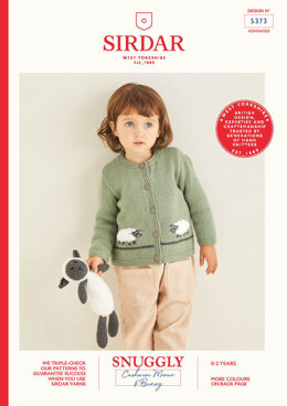 Baby's Cardigan & Sheep Toy in Sirdar Snuggly Cashmere Merino & Snuggly Bunny - 5373 - Leaflet