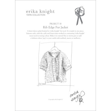Rib Edge Fur Jacket in Erika Knight Fur & Maxi Wool