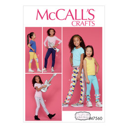 McCall's Children's/Girls' Leggings with Contrast Band and Ruffle Details M7560 - Sewing Pattern