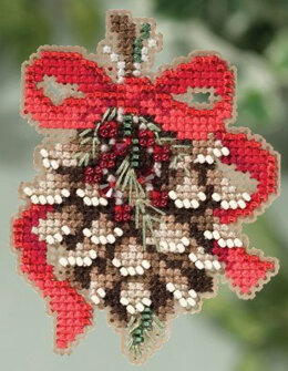 Mill Hill Pinecone Cross Stitch Kit