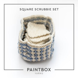 Square Scrubbie Set in Paintbox Yarns Recycled Cotton Worsted - Downloadable PDF