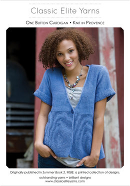 One Button Cardigan in Classic Elite Yarns Provence