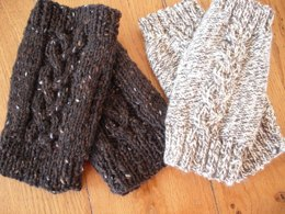 Double choice fingerless mitts