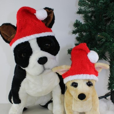 Free Dog Christmas Santa Hat Knitting Pattern By Madmonkeyknits