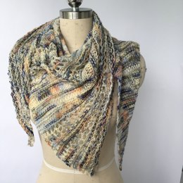 September Club - Changing Skies Shawl in Artyarns Merino Cloud, Beaded Silk and Sequins Light - Downloadable PDF