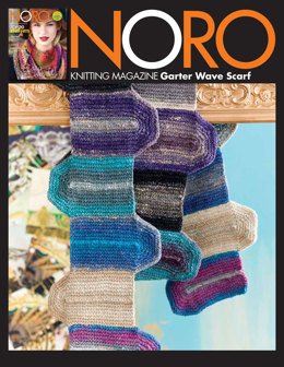 Garter Wave Scarf in Noro Shiro - 12 - Downloadable PDF