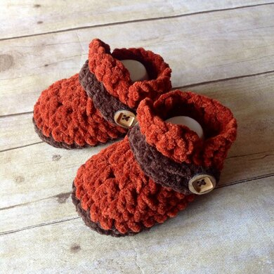 Button Strap Baby Loafers