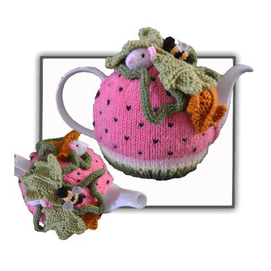 Knitting Pattern Tea Cosy 8 Ply : Watermelon Mouse Tea Cosy Knitting pattern by T-Bee Cosy Knitting Patterns ...