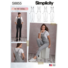 Simplicity S8855 Misses Knit Overalls - Sewing Pattern